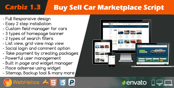 Latest] Carbiz - Buy Sell Car Marketplace Script Nulled Free Download